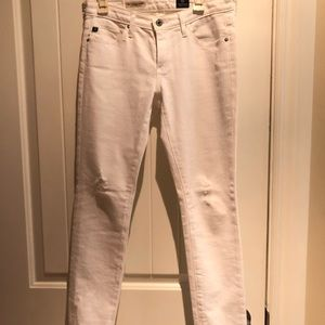AG Andriano Goldschmied White legging Ankle Jeans